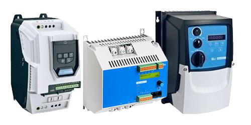 Motorsteuergeräte, Frequenzumrichter, Softstarter, Bremsgeräte, Sanftanlauf-Bremskombinationen aus der Produktgruppe Antriebstechnik