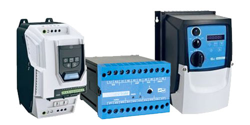 Motorsteuergeräte, Frequenzumrichter, Softstarter, Bremsgeräte, Sanftanlauf-Bremskombinationen, Kundenspezifische Leiterplatten-Varianten.