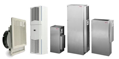 Filterlüfter/Austrittsfilter, Dachlüfter, Kompaktlüfter, Peltier-Kühlgeräte, Schaltschrank-Kühlgeräte, -Innenlüfter, -Wärmetauscher, -Heizungen, -Thermostate, -Hygrostate.