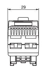Thermostat-Breite TRT 29 mm