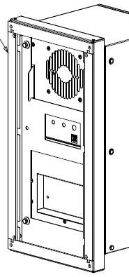 Montage-Adapter zum Austausch defekter marktgängiger Schaltschrank-Kühlgeräte-Fabrikate