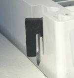 Innovatives Montagesystem für Wandstärken bis zu 8 mm ( optional 16 mm)