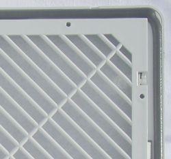 Geschäumte Gummidichtung auf Filtergehäuse zum Schaltschrank