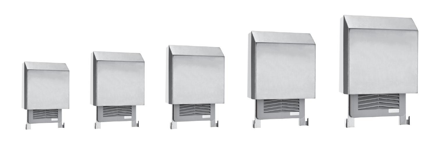 Strahlwasser-Schutzhauben für Filterlüfter der Serien FF & GF