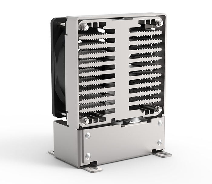 Schaltschrank-Heizung FLH 250 SL für den Einsatz in Schaltschränken zur Vermeidung von niedrigen Temperaturen oder hoher relativer Luftfeuchtigkeit