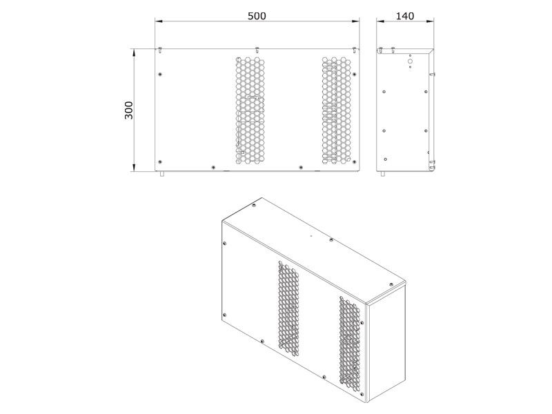 Schaltschrank-Kühlgerät SMART 420 W Abmessungen