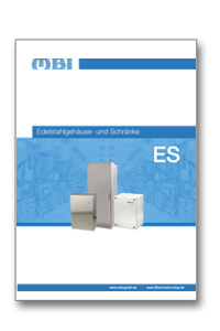 MBI Produktkatalog über Edelstahlgehäuse- und Schränke