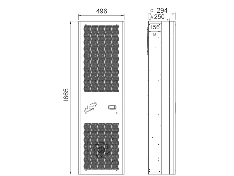 Schaltschrank-Kühlgeräte FLEX IN CDI26 -Abmessungen-