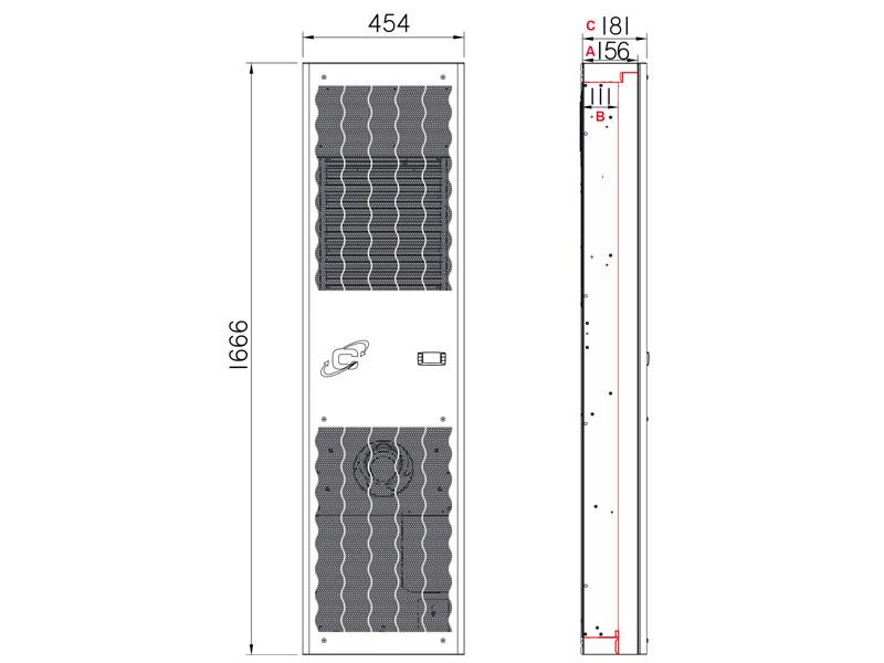 Schaltschrank-Kühlgeräte SLIM IN CDE20 -Abmessungen-